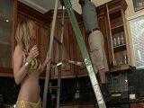 La golfilla Desiree Dalton pone cachondo al electricista